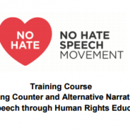 Poziv na trening 'Razvoj protunarativa i alternativnih narativa govoru mržnje obrazovanjem za ljudska prava'
